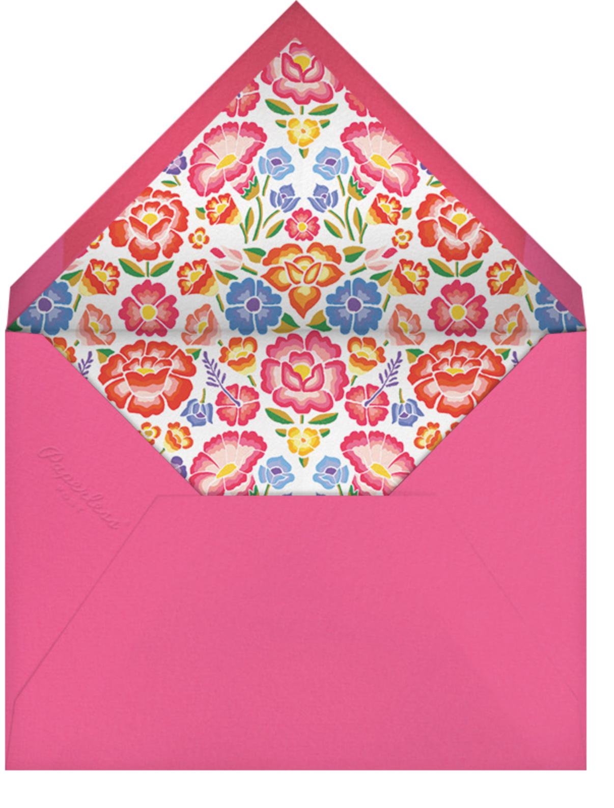 De Colores - Paperless Post - Rehearsal dinner - envelope back