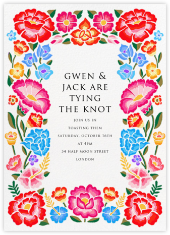 De Colores - Paperless Post - Bridal shower invitations
