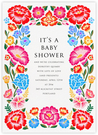 De Colores - Paperless Post - Baby Shower Invitations