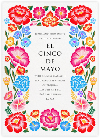 De Colores - Paperless Post - Cinco de Mayo Invitations