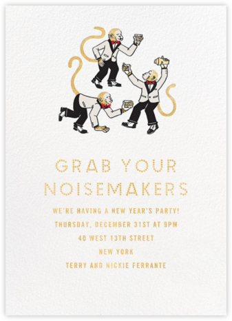 Monkey Suits - Paperless Post - New Year's Eve Invitations