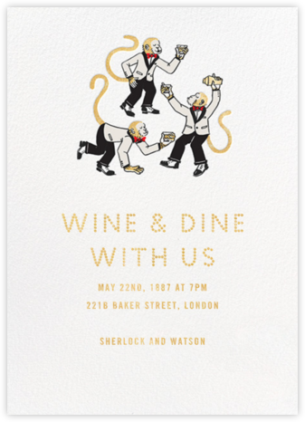 Monkey Suits - Paperless Post - Happy Hour Invitations