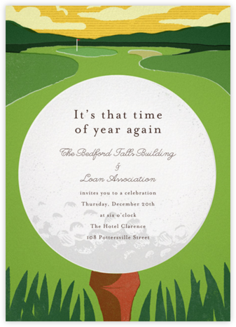 Tee Time - Paperless Post - Fundraiser Invitations