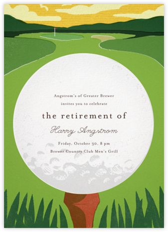 Tee Time - Paperless Post - Retirement Invitations