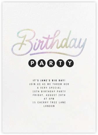 Galaxy Birthday - Paperless Post - Birthday invitations