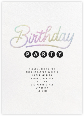 Galaxy Birthday - Paperless Post - Sweet 16 invitations