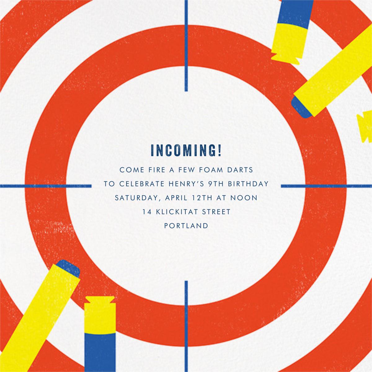 Target Practice - Paperless Post - Kids' birthday invitations