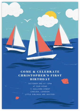 Smooth Sailing - Paperless Post - Online Kids' Birthday Invitations