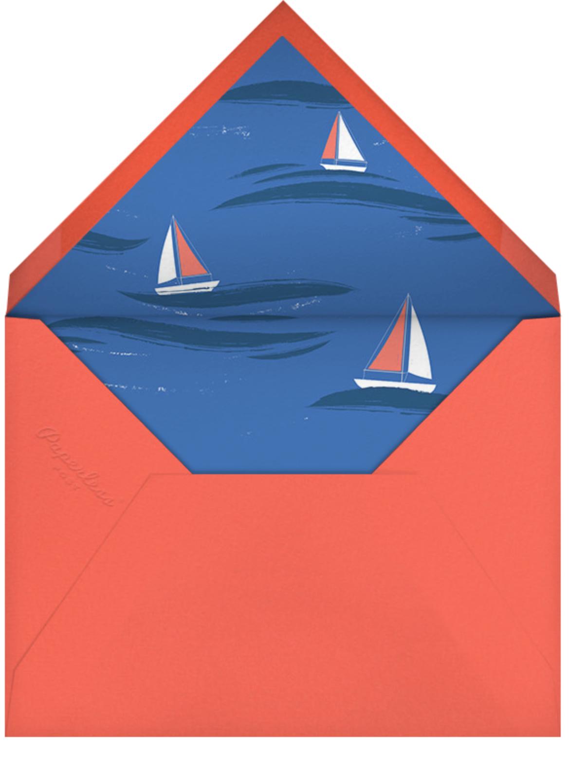 Smooth Sailing - Paperless Post - Summer entertaining - envelope back