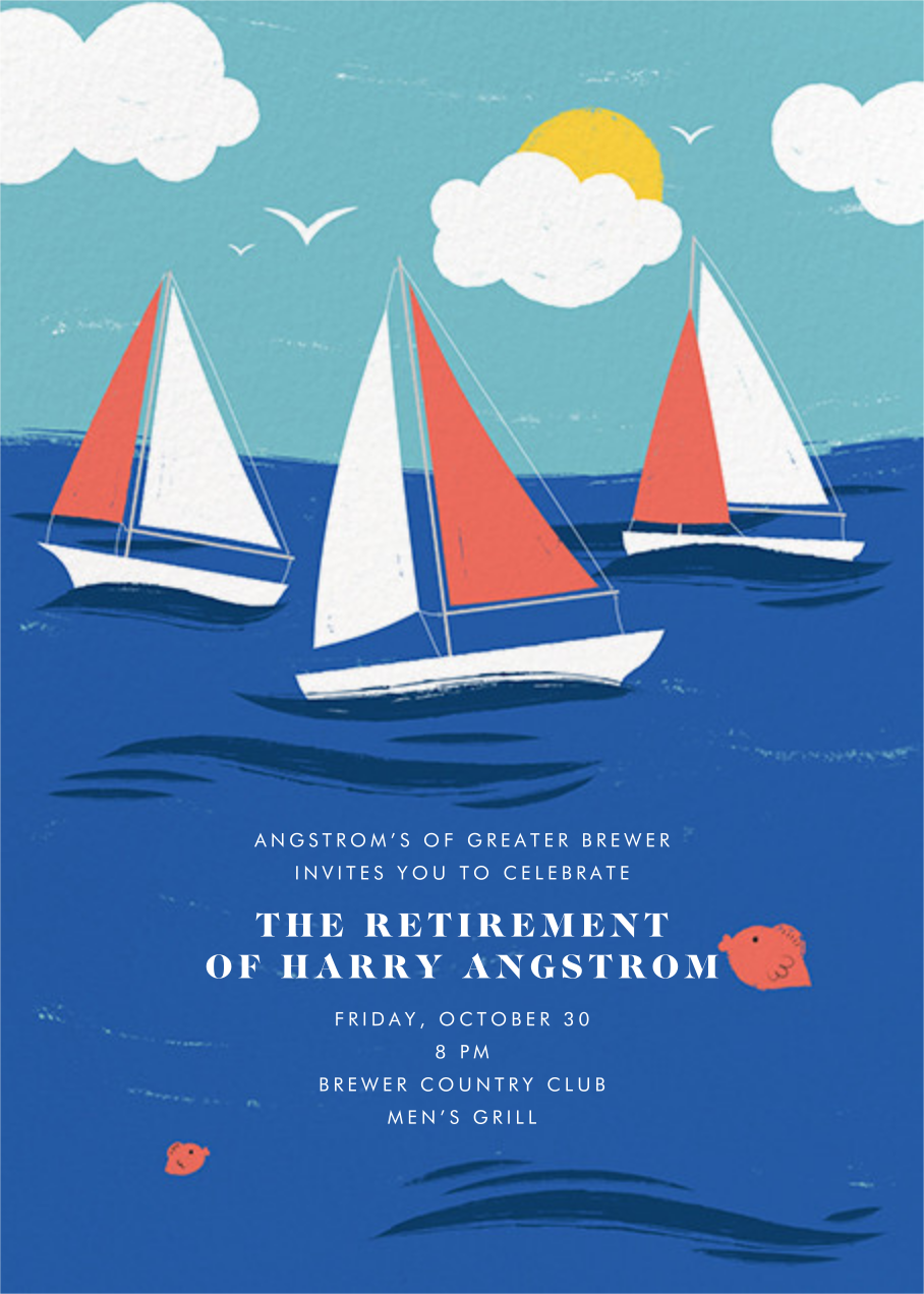 Smooth Sailing - Paperless Post - Retirement invitations, farewell invitations