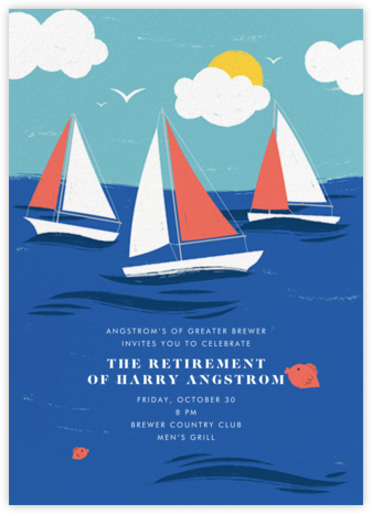 Smooth Sailing - Paperless Post - Retirement Invitations