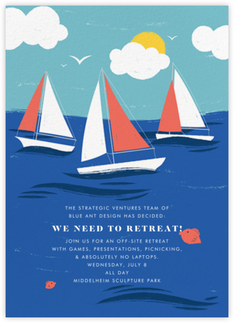 Smooth Sailing - Paperless Post - Casual Party Invitations