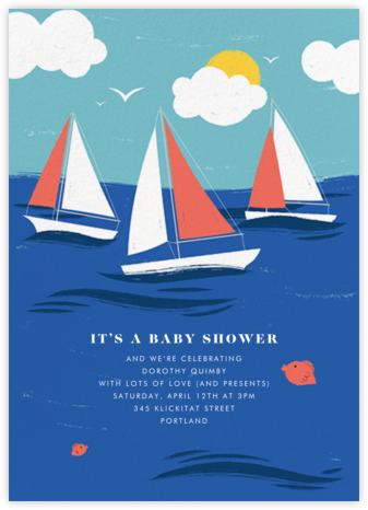 Smooth Sailing - Paperless Post - Baby Shower Invitations