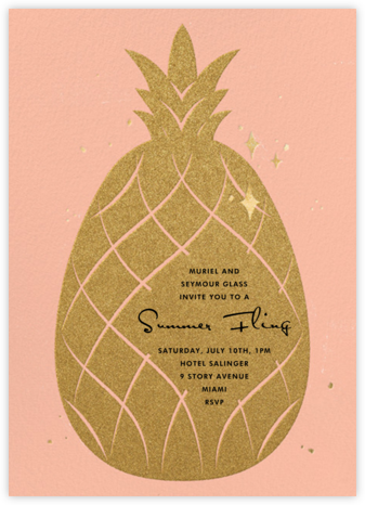 Go Ananas - Paperless Post - Pool Party Invitations