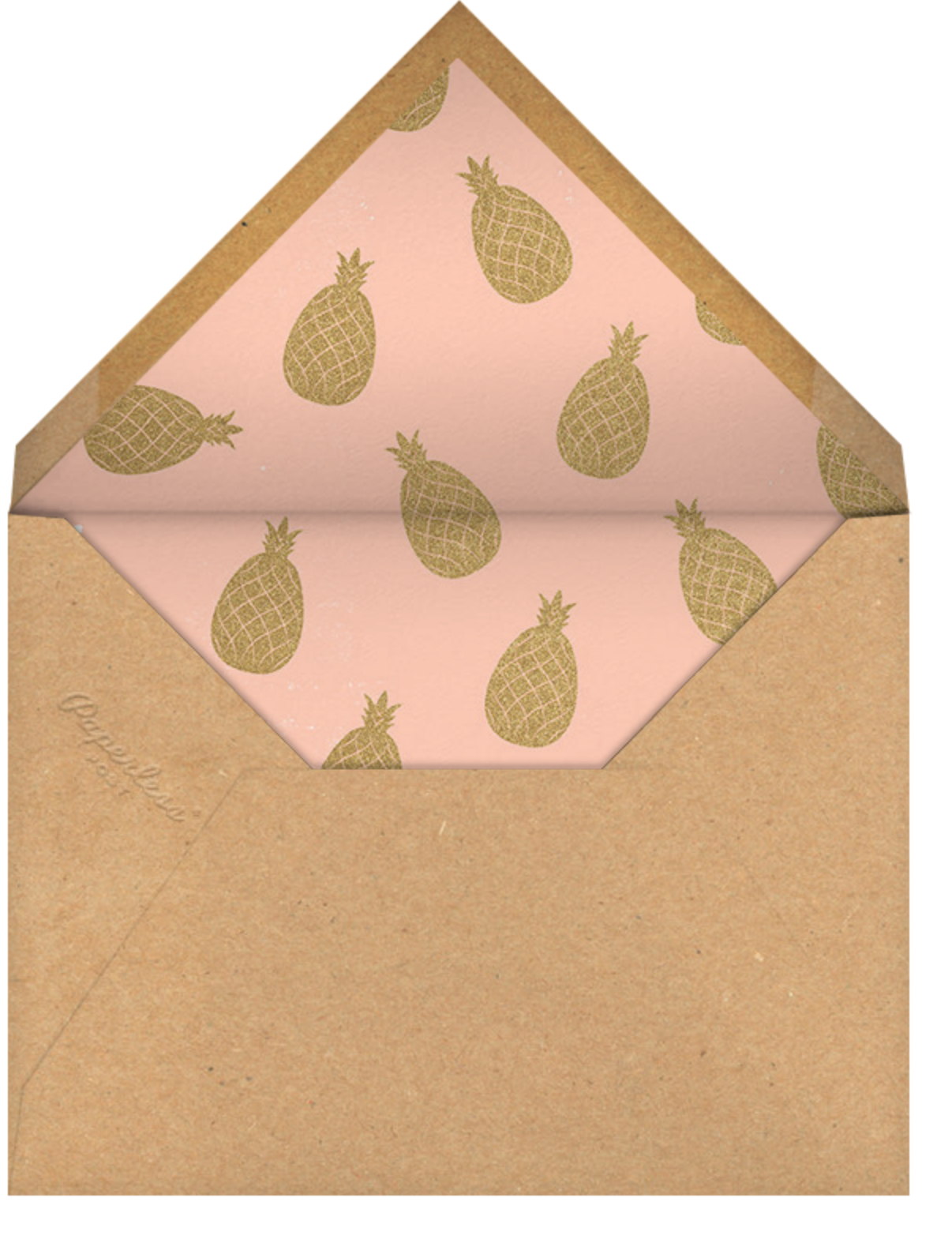 Go Ananas - Paperless Post - Adult birthday - envelope back