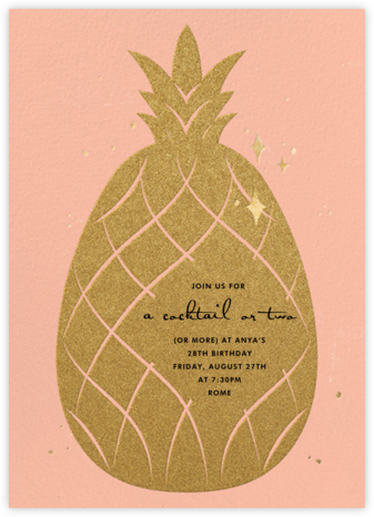Go Ananas - Paperless Post - Adult Birthday Invitations
