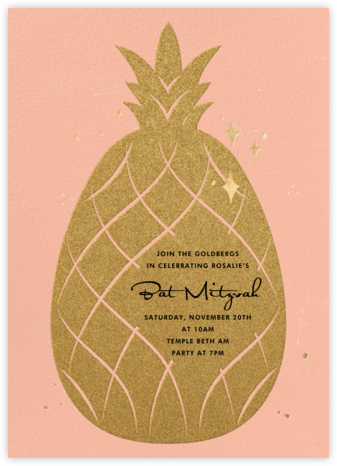 Go Ananas - Paperless Post - Bat and Bar Mitzvah Invitations