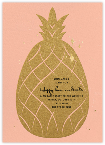 Go Ananas - Paperless Post - Happy hour invitations