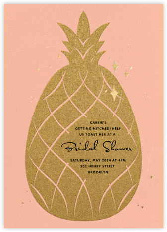 Go Ananas - Paperless Post - Bridal shower invitations