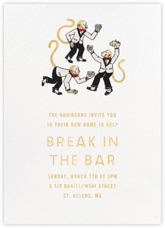Monkey Suits - Paperless Post - Housewarming party invitations