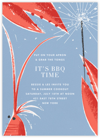 Shrimp and Sparklers - Paperless Post - Summer entertaining invitations