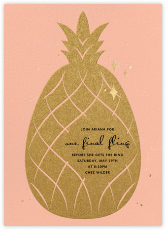 Go Ananas - Paperless Post - Bachelorette Party Invitations