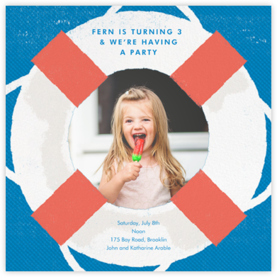 Going Overboard - Paperless Post - Online Kids' Birthday Invitations