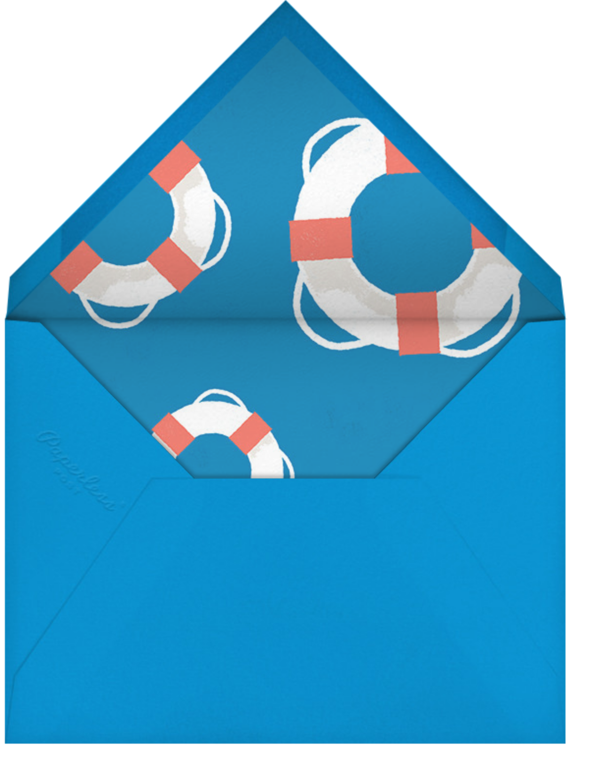 Going Overboard - Paperless Post - Baby shower - envelope back