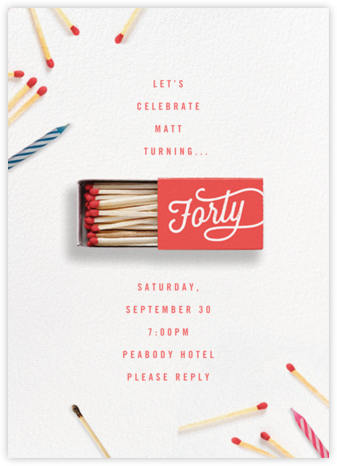 It's Getting Lit - Forty - Cheree Berry - Adult birthday invitations
