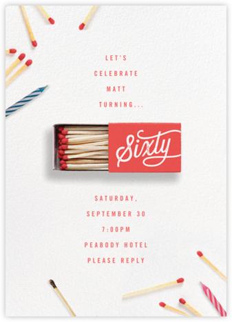 It's Getting Lit - Sixty - Cheree Berry - Milestone birthday invitations
