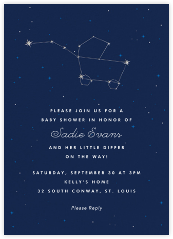 Little Dipper - Cheree Berry - Baby shower invitations