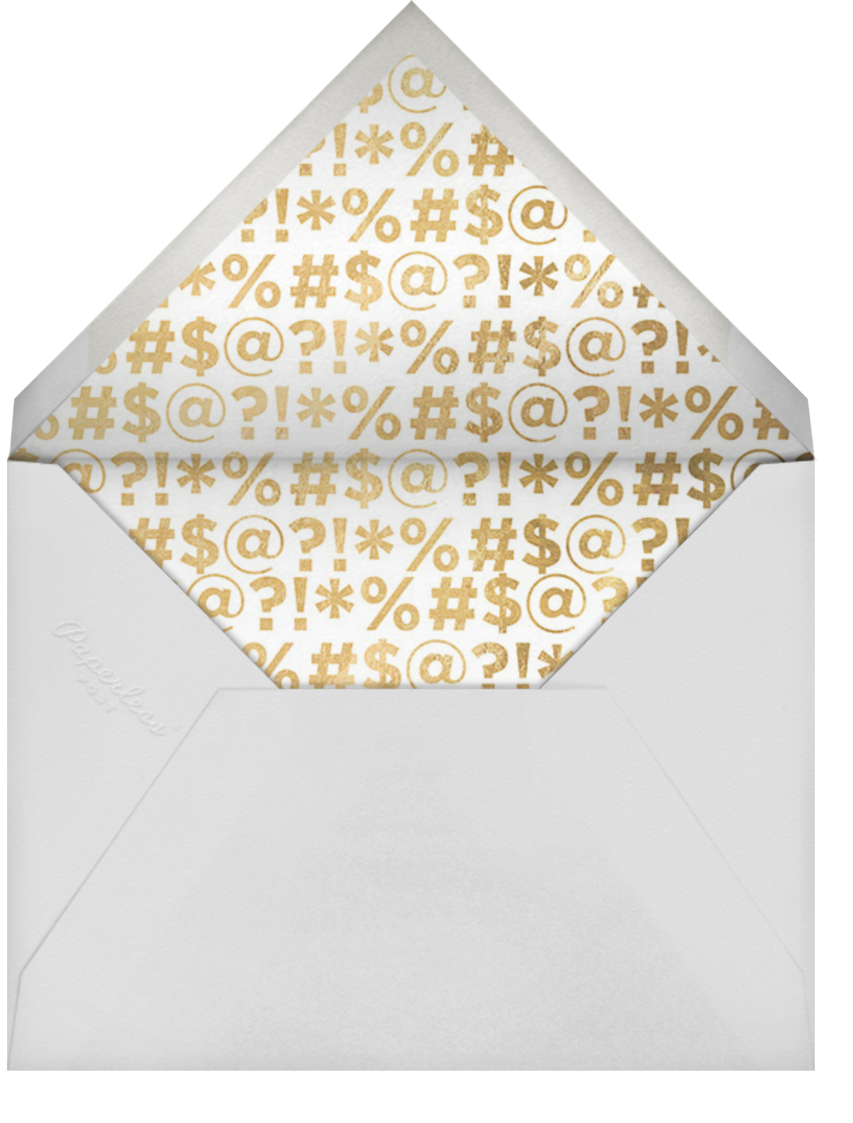 The F Word - Cheree Berry - 50th birthday invitations - envelope back