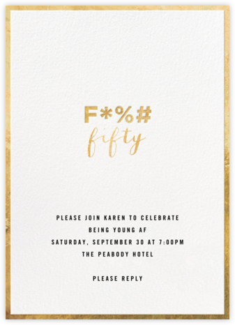 The F Word - Cheree Berry - Adult Birthday Invitations