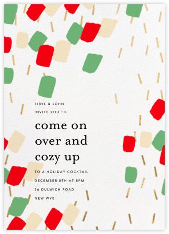 Confetti Flutter - White - Ashley G - Holiday invitations