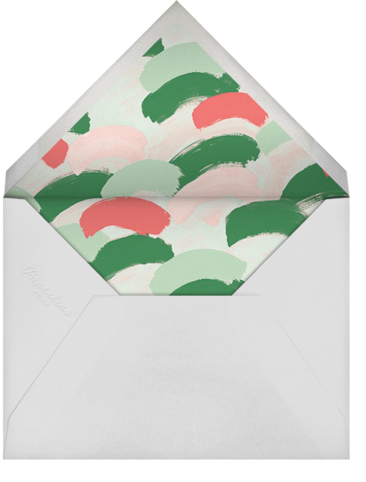 Confetti Snowfall - Maraschino - Ashley G - Holiday party - envelope back