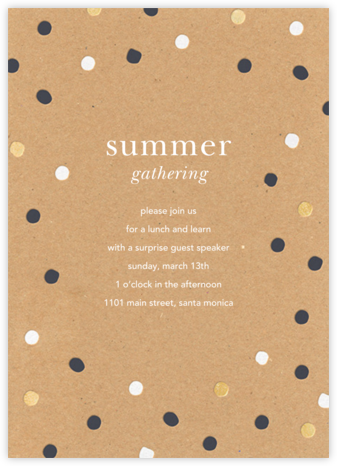 Painted Spots - Kraft - Sugar Paper - Casual Party Invitations