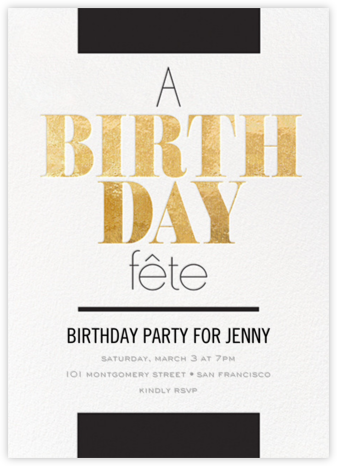 Birthday Break - bluepoolroad - Milestone birthday invitations