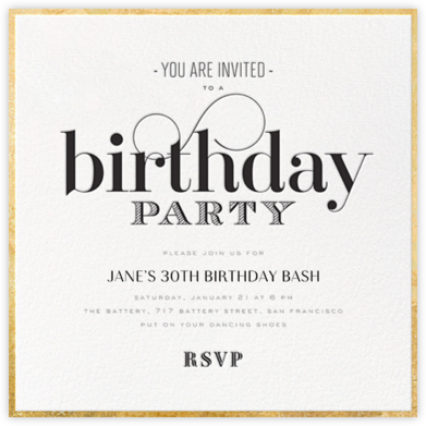 Invitations Online At Paperless Post - Birthday invitation cards in french