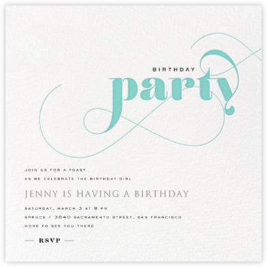 Birthday Whirl - Lagoon - bluepoolroad - bluepoolroad invitations