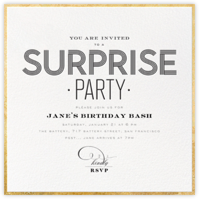 Deco Surprise - bluepoolroad - Adult birthday invitations