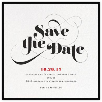 Grand Flourish - bluepoolroad - Save the dates