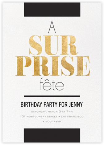 Surprise Break - bluepoolroad - Surprise Party Invitations