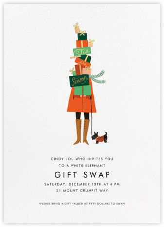 Season of Giving - Rifle Paper Co. - Business Party Invitations