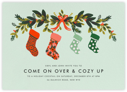 Family Stockings - Rifle Paper Co. - Business Party Invitations
