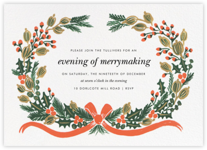 Holiday Greens - Rifle Paper Co. - Winter entertaining invitations