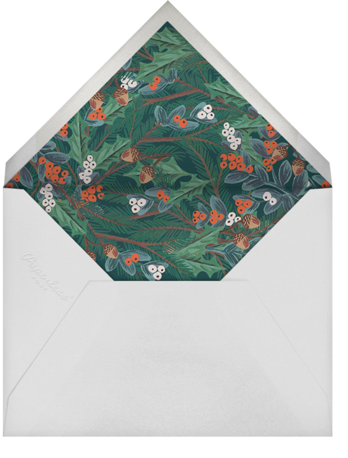 Winter Foliage (Invitation) - Rifle Paper Co. - Winter Favorites - envelope back