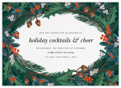 Winter Foliage (Invitation) - Rifle Paper Co. - Winter entertaining invitations