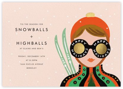 Ski Shades - Fair - Rifle Paper Co. - Holiday invitations