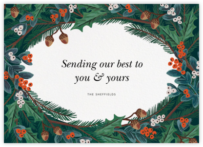 Winter Foliage (Greeting) - Rifle Paper Co. - Company holiday cards