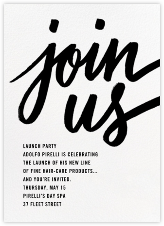 Rosina - White - Paperless Post - Business Party Invitations